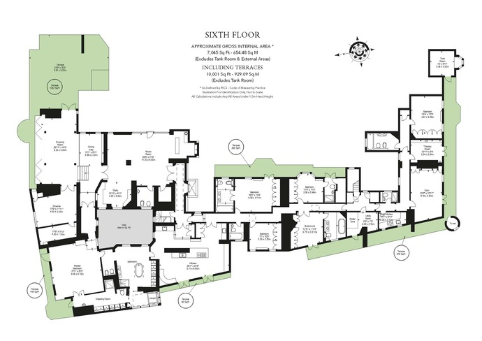 6 bedrooms flat for sale in wellington court for Apartment floor plans london